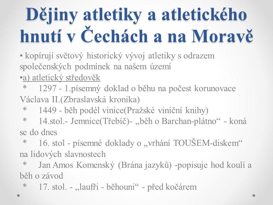 Dějiny atletiky a atletického hnutí v Čechách a na Moravě