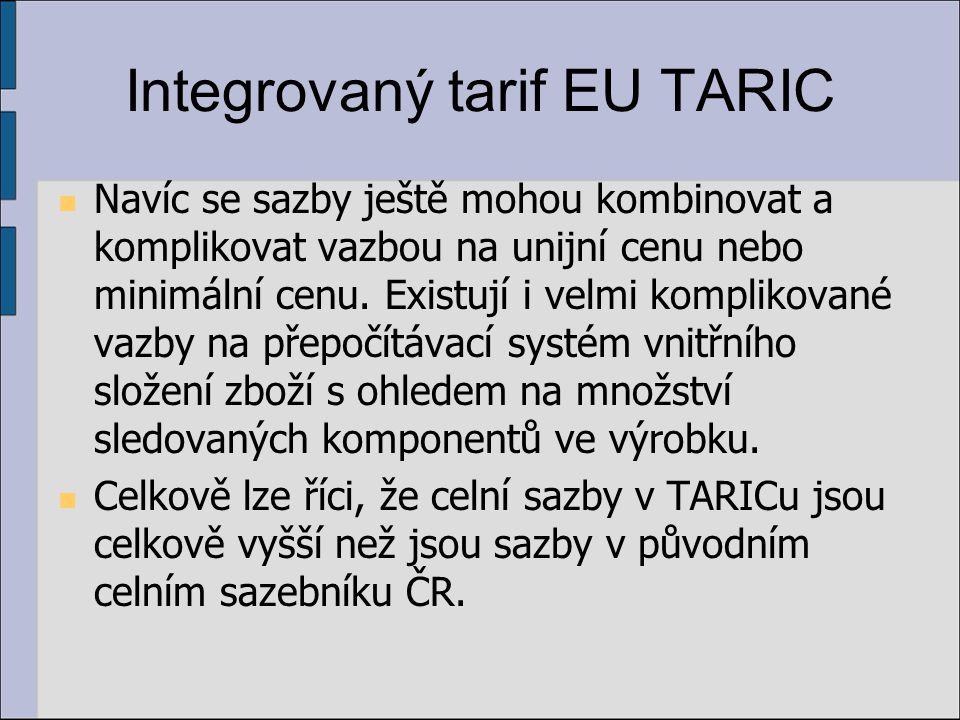 Integrovaný tarif EU TARIC