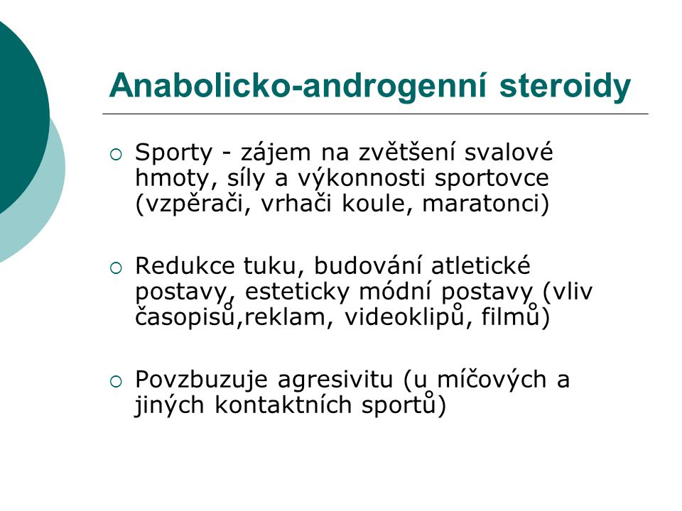 Anabolicko-androgenní steroidy