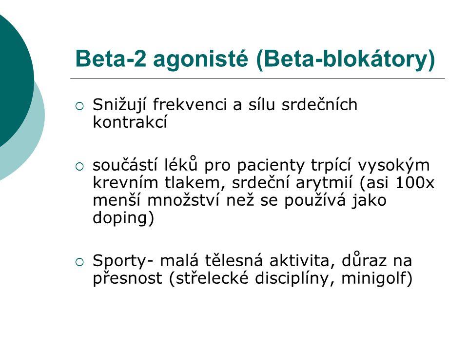 Beta-2 agonisté (Beta-blokátory)