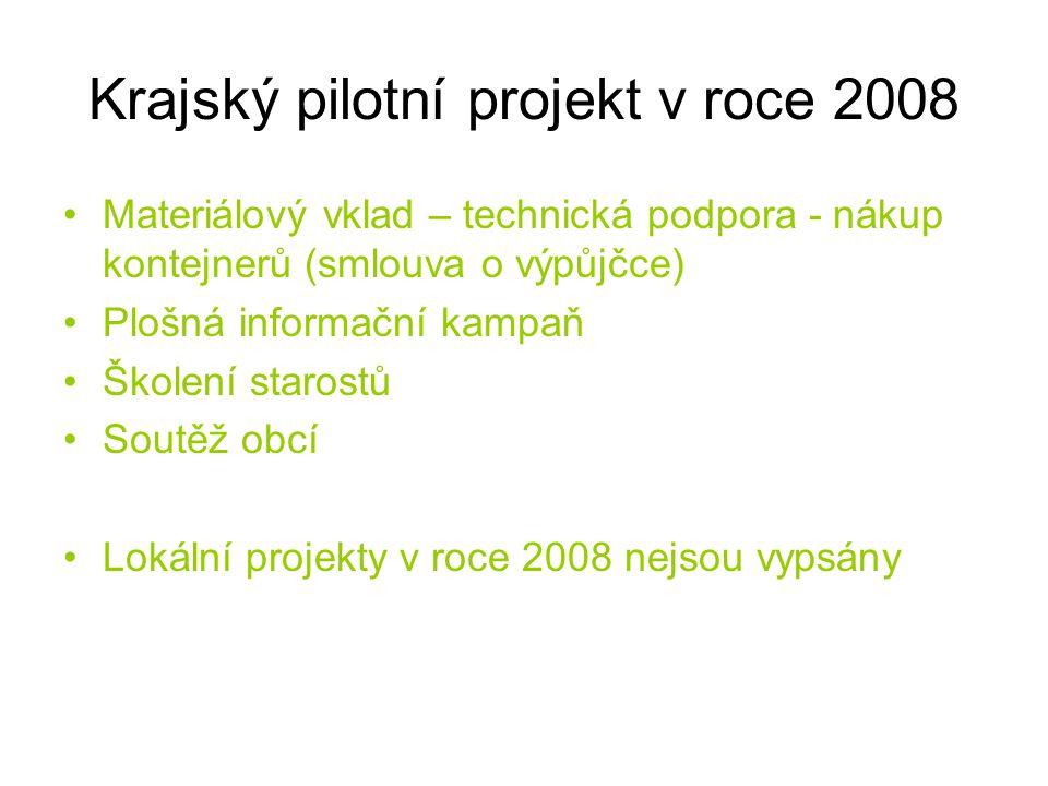 Krajský pilotní projekt v roce 2008