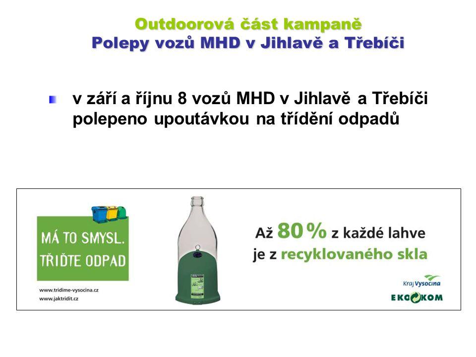 Outdoorová část kampaně Polepy vozů MHD v Jihlavě a Třebíči