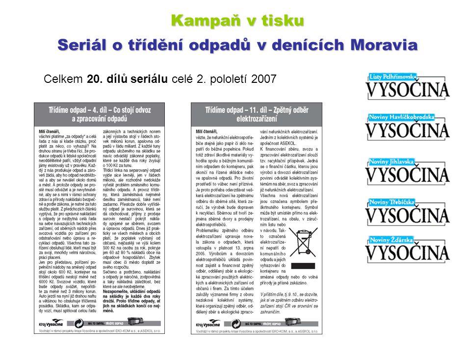 Kampaň v tisku Seriál o třídění odpadů v denících Moravia