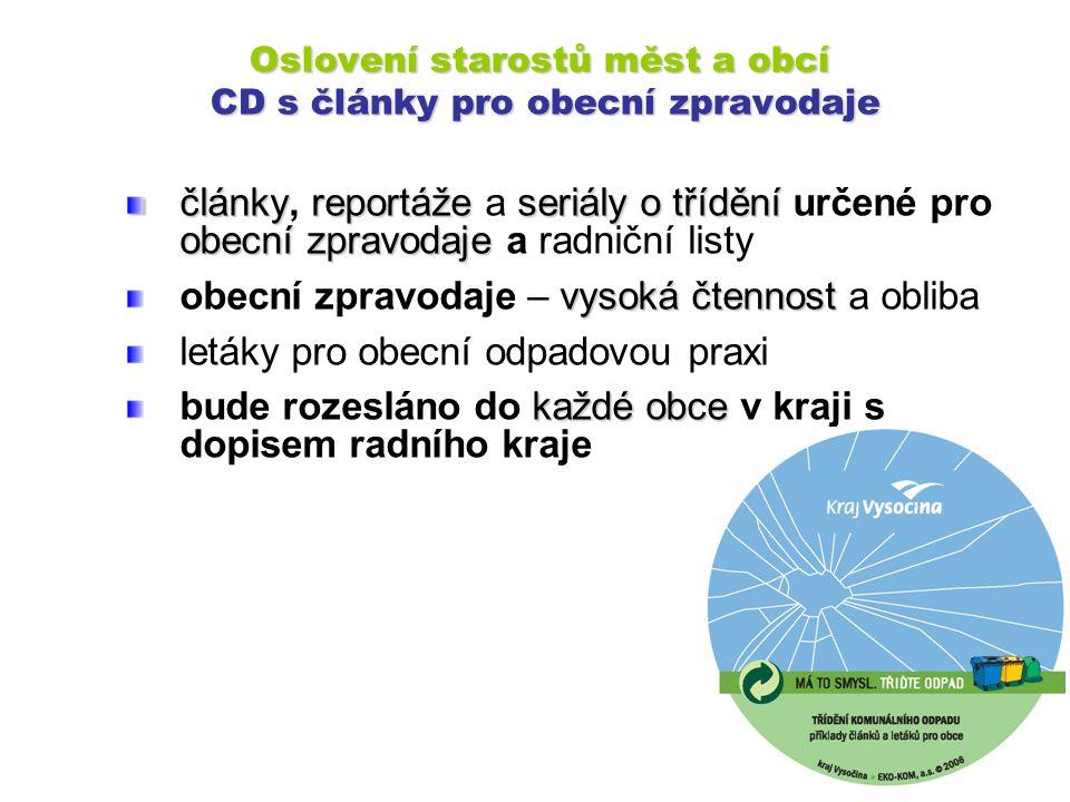 Oslovení starostů měst a obcí CD s články pro obecní zpravodaje