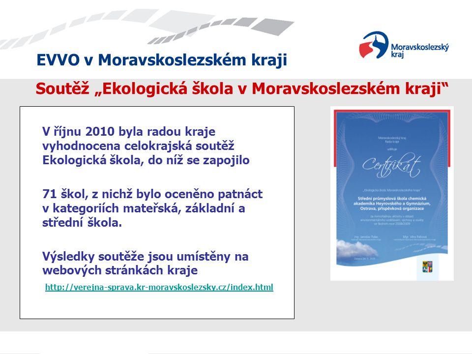 """Soutěž """"Ekologická škola v Moravskoslezském kraji"""