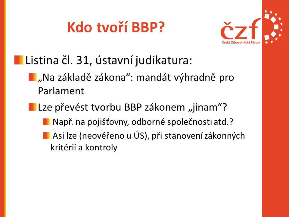 Kdo tvoří BBP Listina čl. 31, ústavní judikatura: