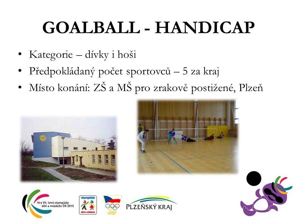 GOALBALL - HANDICAP Kategorie – dívky i hoši