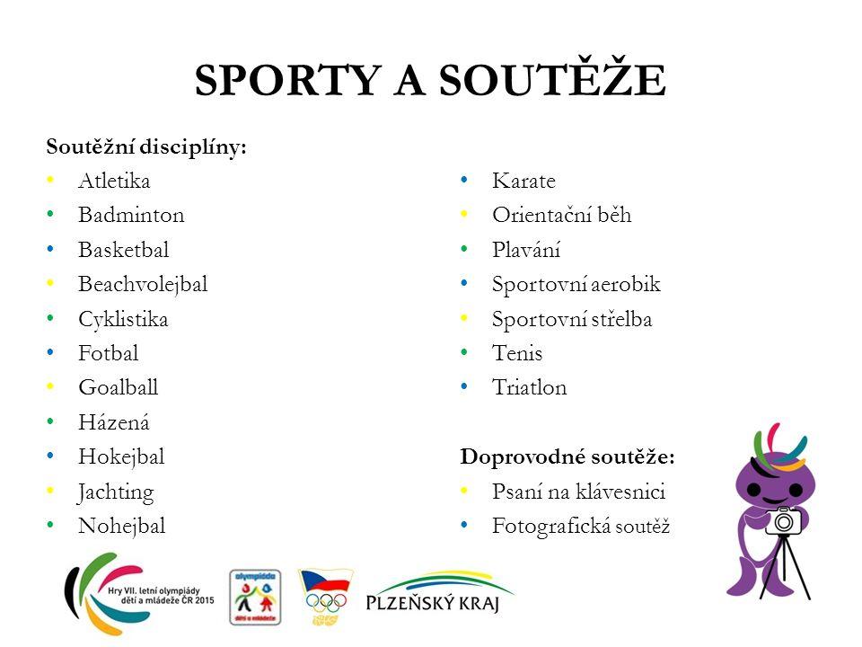 SPORTY A SOUTĚŽE Soutěžní disciplíny: Atletika Badminton Basketbal