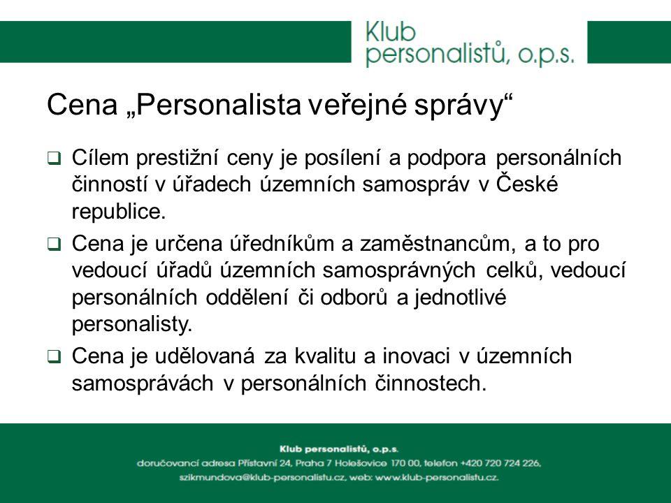 """Cena """"Personalista veřejné správy"""