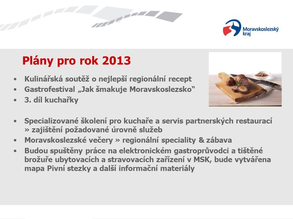 Plány pro rok 2013 Kulinářská soutěž o nejlepší regionální recept