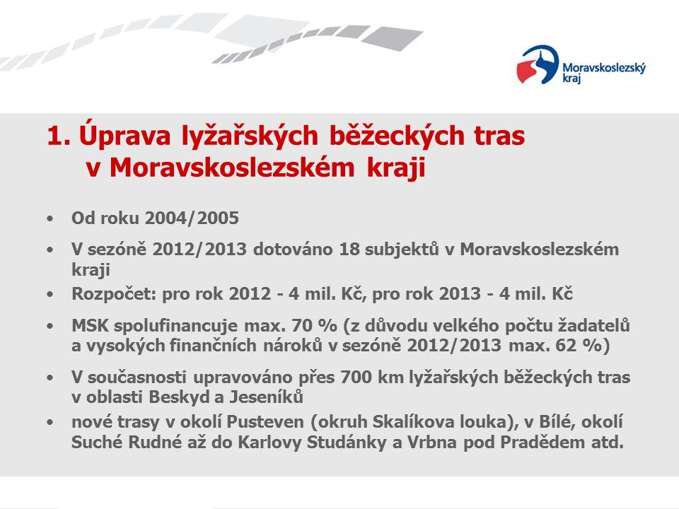 1. Úprava lyžařských běžeckých tras v Moravskoslezském kraji