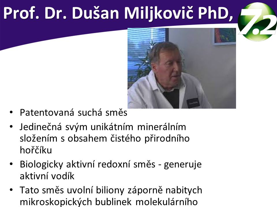 Prof. Dr. Dušan Miljkovič PhD,