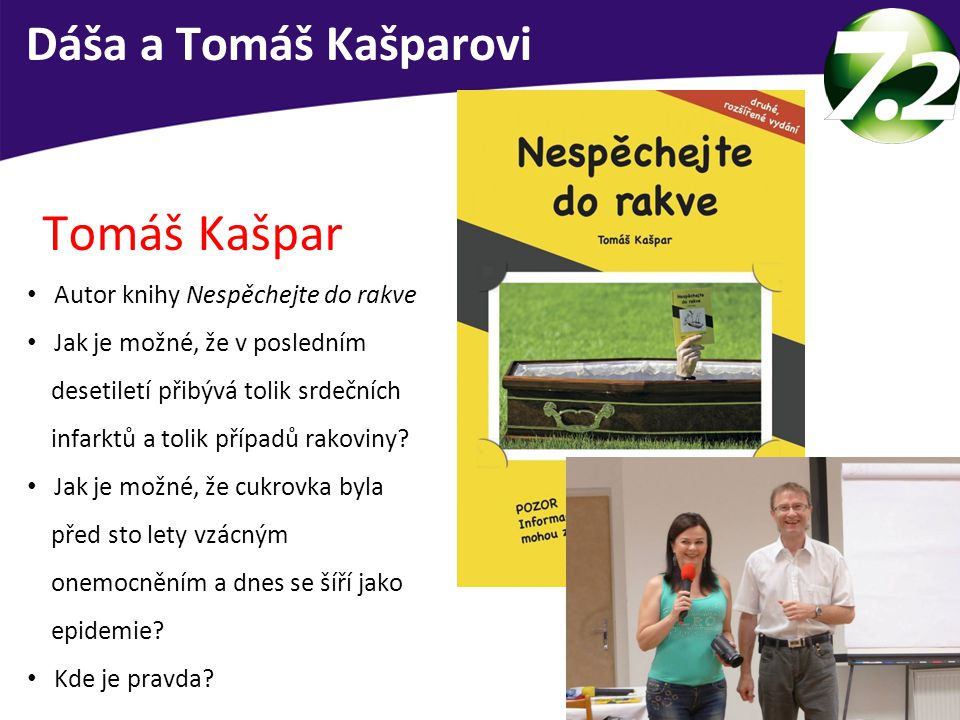 Tomáš Kašpar Dáša a Tomáš Kašparovi Autor knihy Nespěchejte do rakve