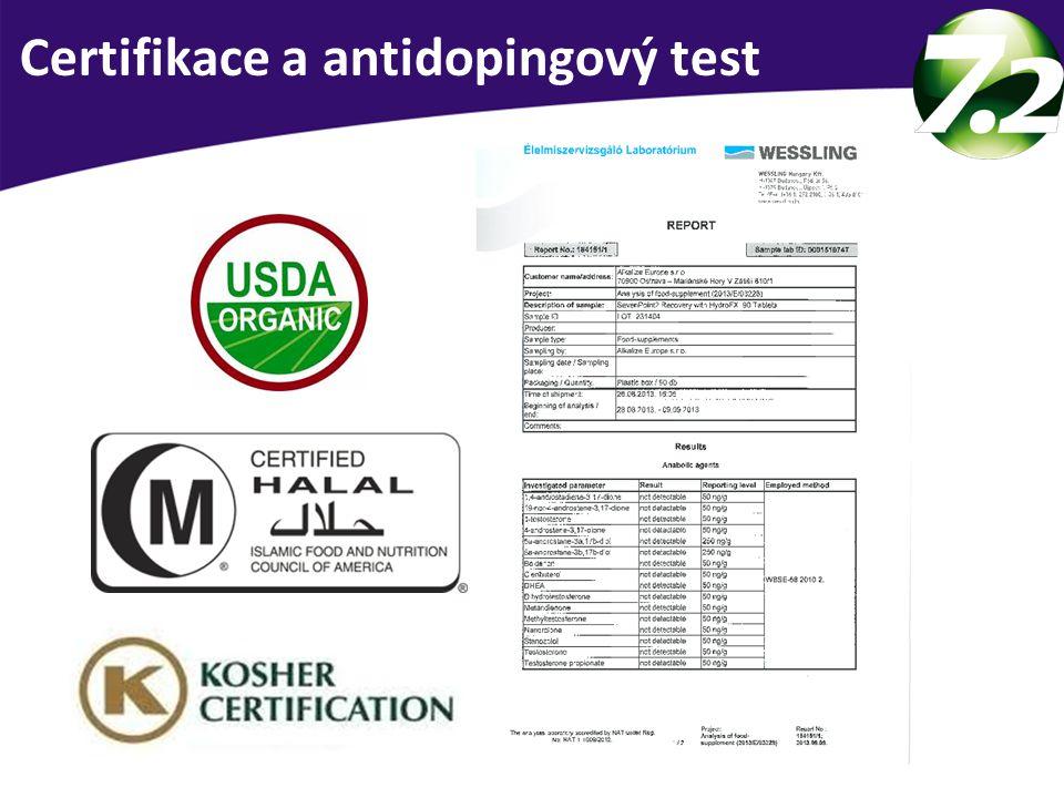 Certifikace a antidopingový test