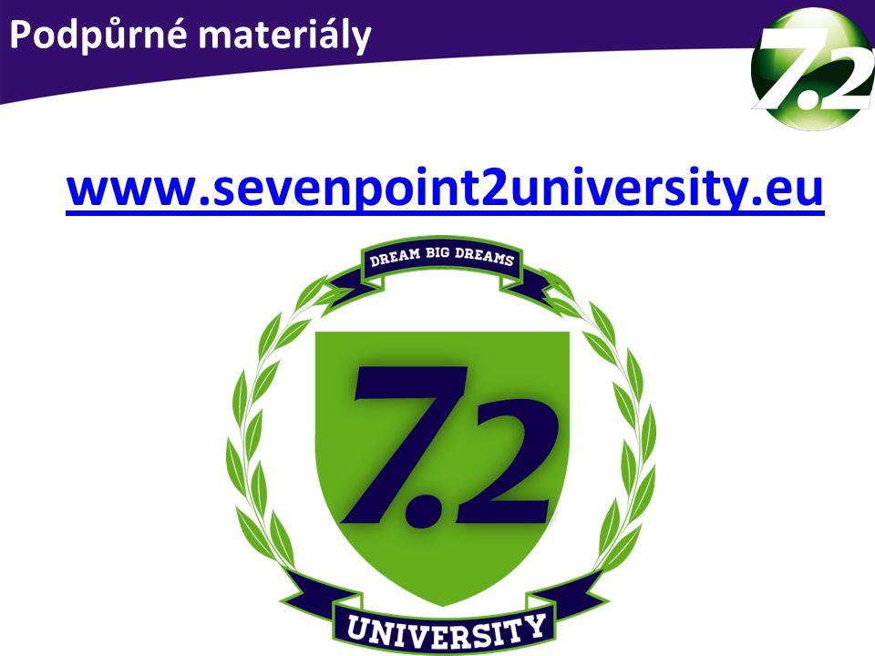 Podpůrné materiály Podpora pro Vás www.sevenpoint2university.eu