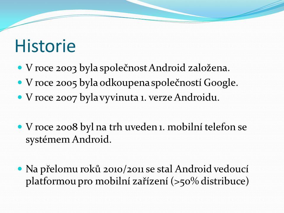 Historie V roce 2003 byla společnost Android založena.