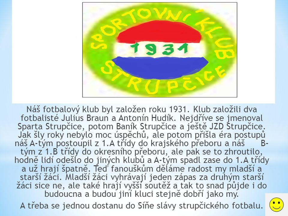 Náš fotbalový klub byl založen roku 1931