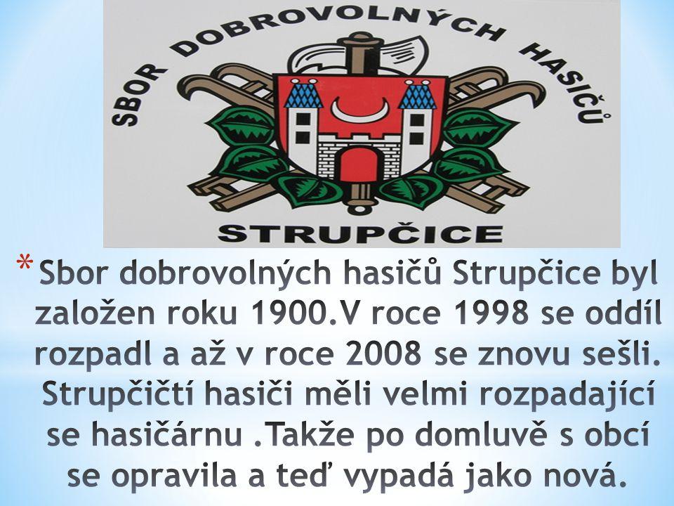 Sbor dobrovolných hasičů Strupčice byl založen roku 1900