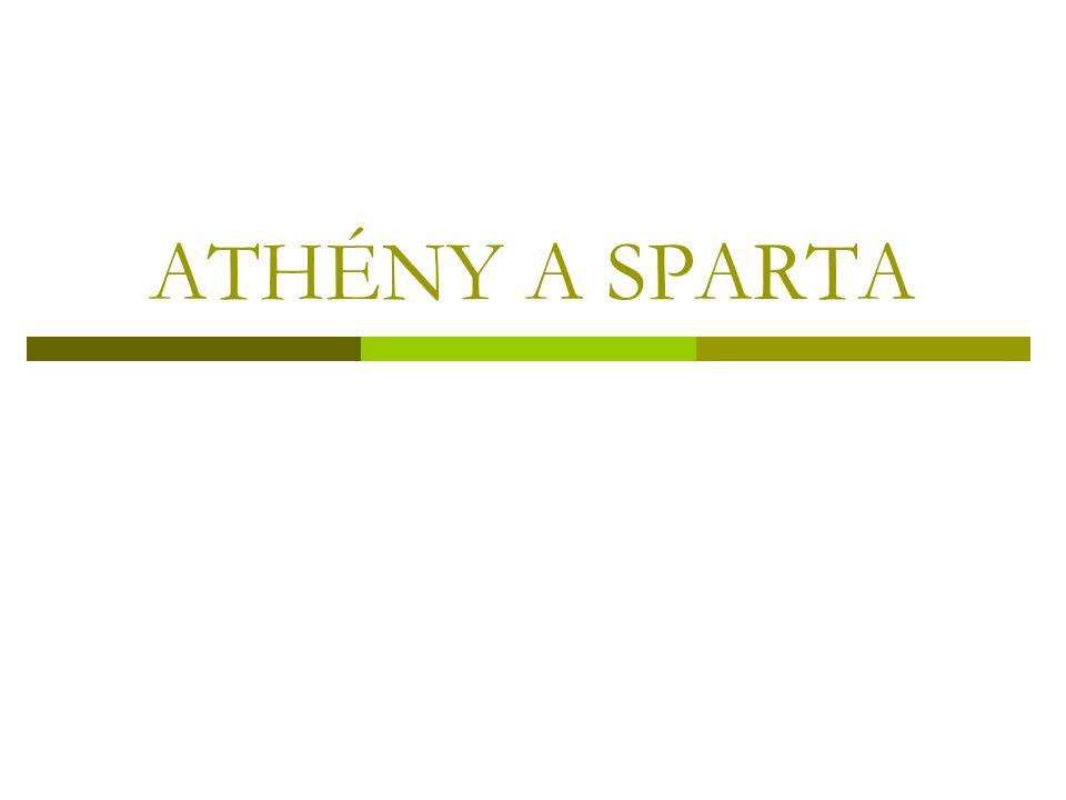 ATHÉNY A SPARTA