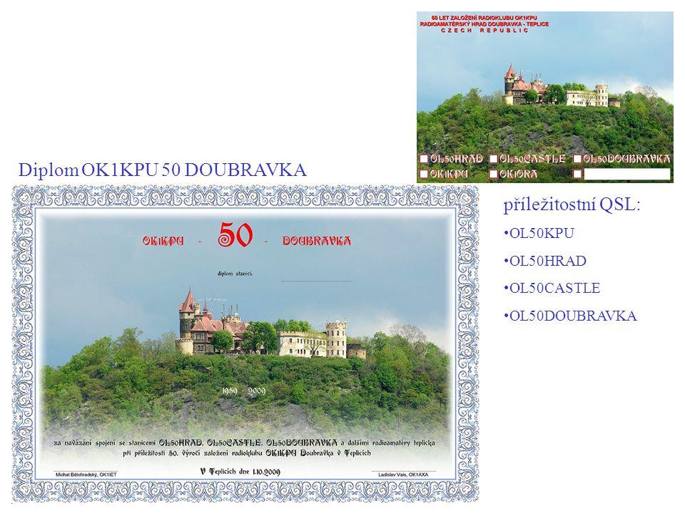 Diplom OK1KPU 50 DOUBRAVKA