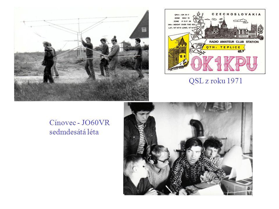 QSL z roku 1971 Cínovec - JO60VR sedmdesátá léta