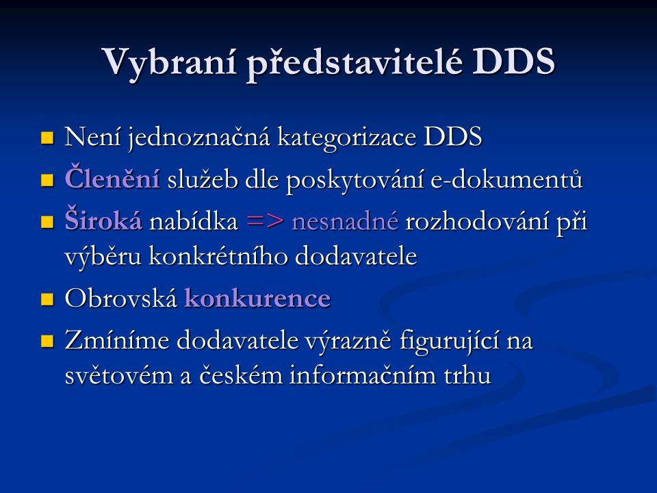 Vybraní představitelé DDS