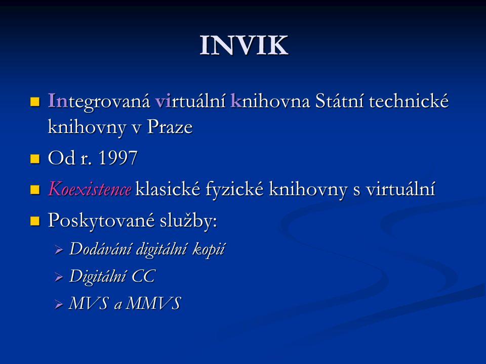 INVIK Integrovaná virtuální knihovna Státní technické knihovny v Praze