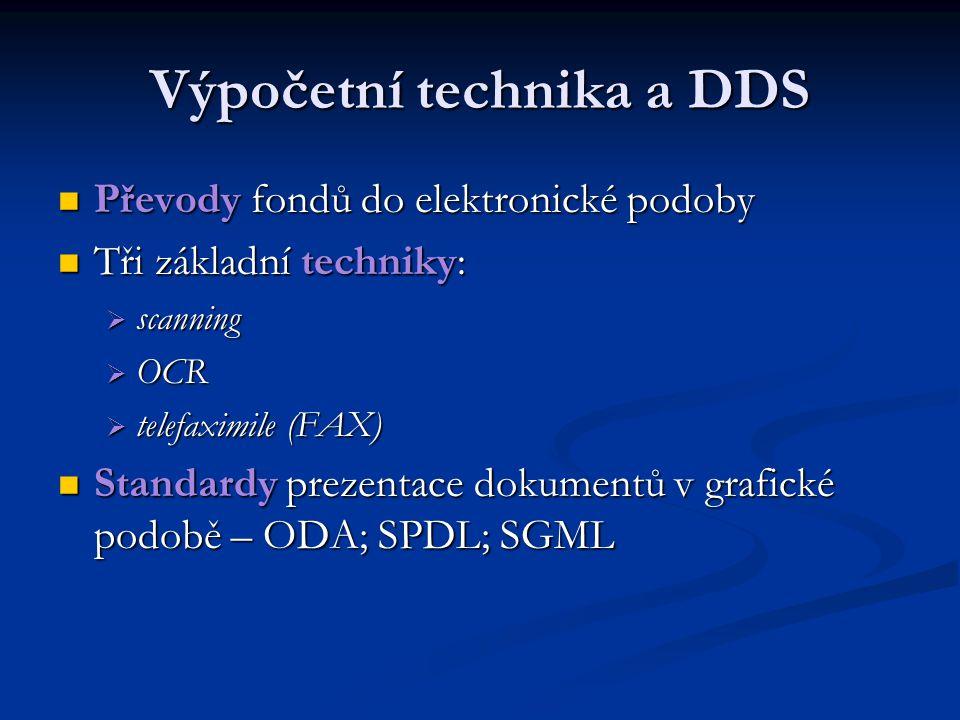 Výpočetní technika a DDS