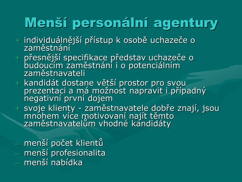 Menší personální agentury