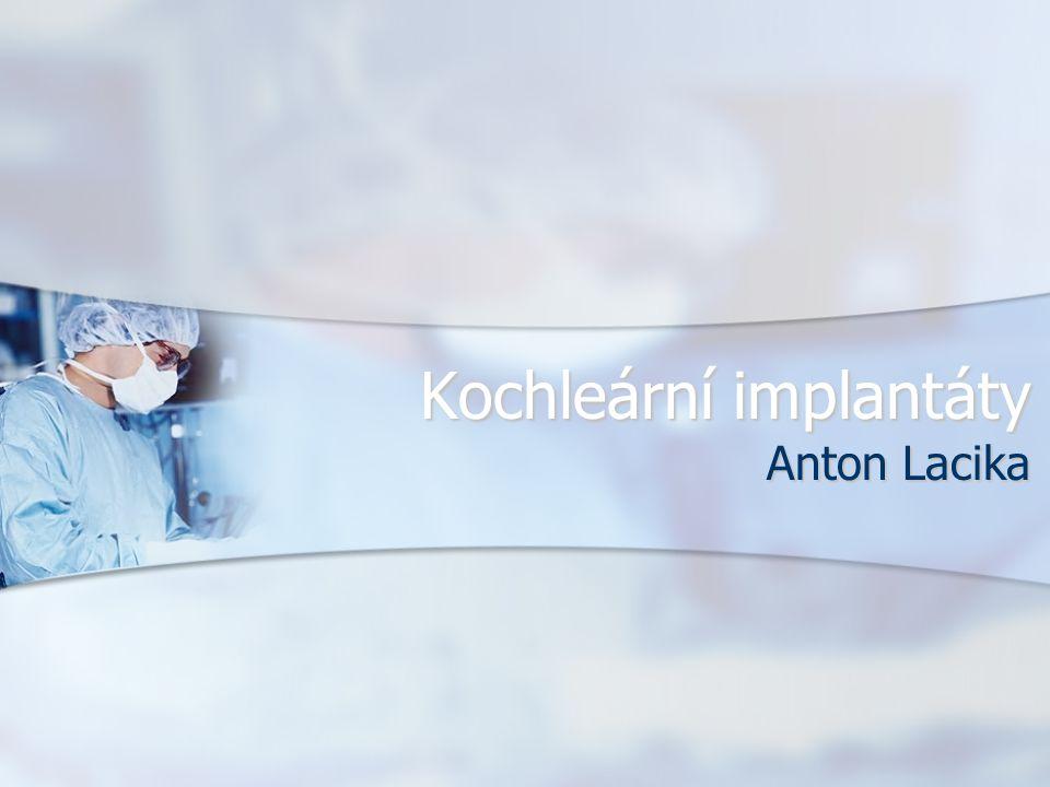 Kochleární implantáty