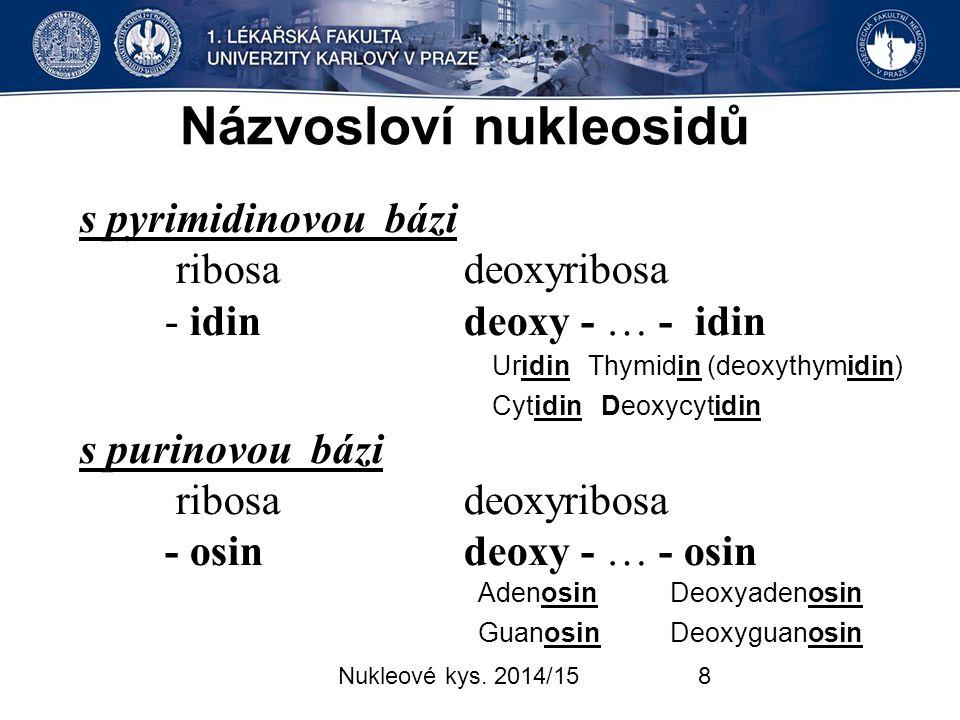 Názvosloví nukleosidů