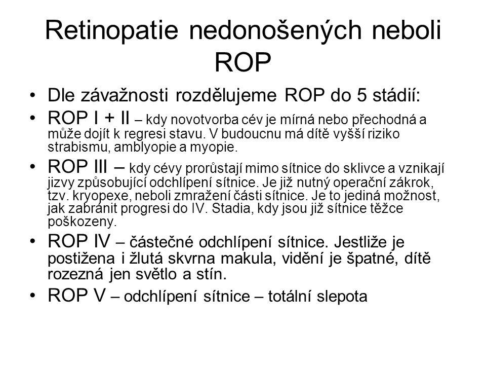 Retinopatie nedonošených neboli ROP