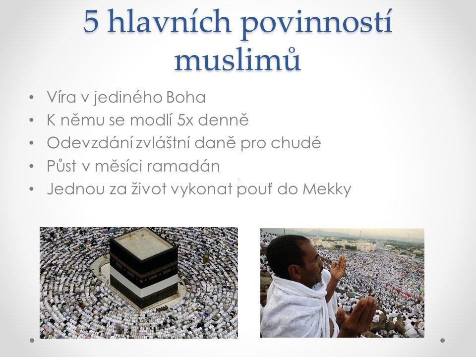 5 hlavních povinností muslimů