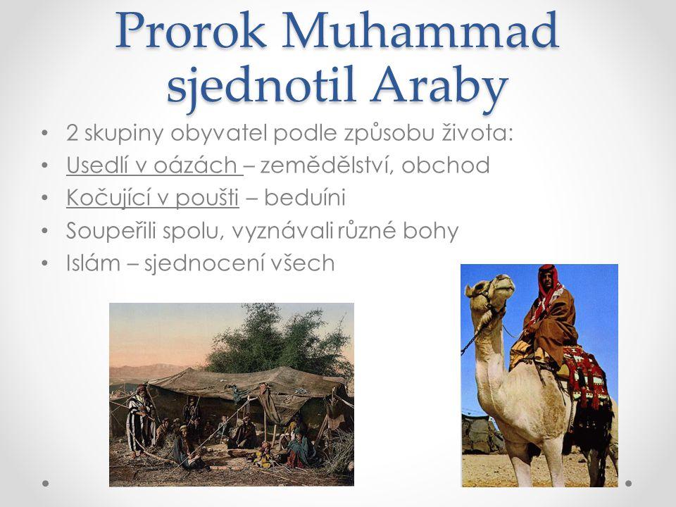 Prorok Muhammad sjednotil Araby