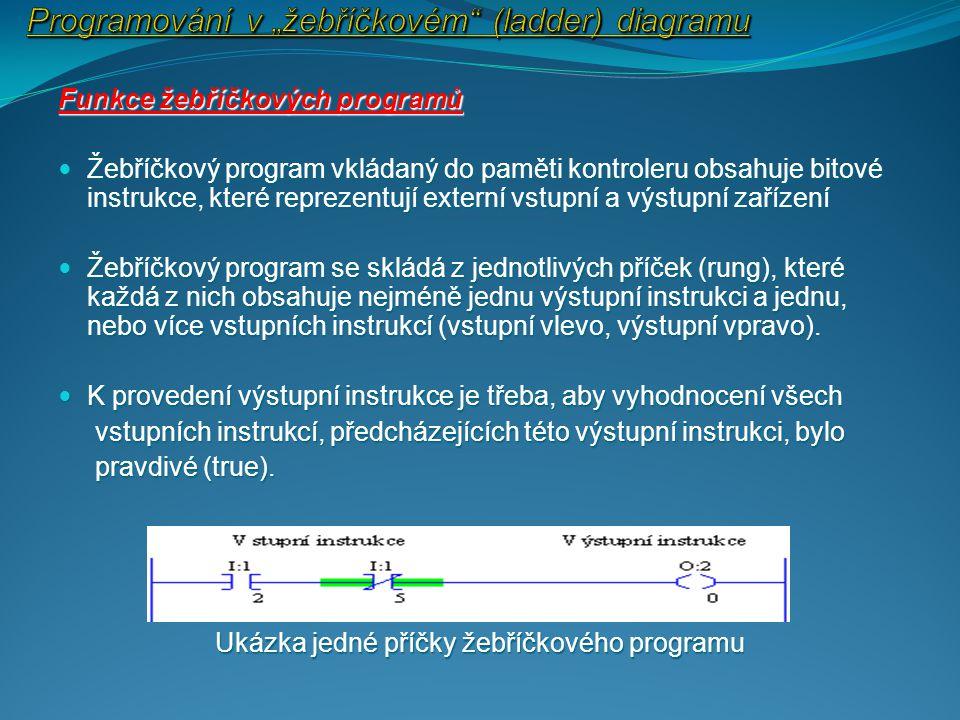 """Programování v """"žebříčkovém (ladder) diagramu"""