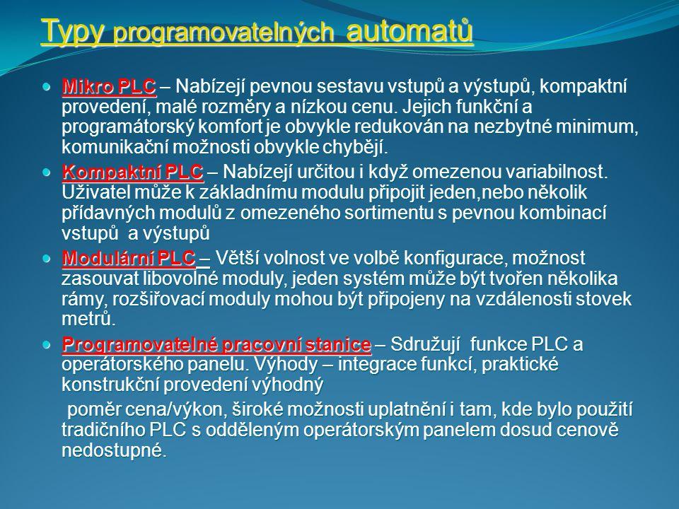 Typy programovatelných automatů
