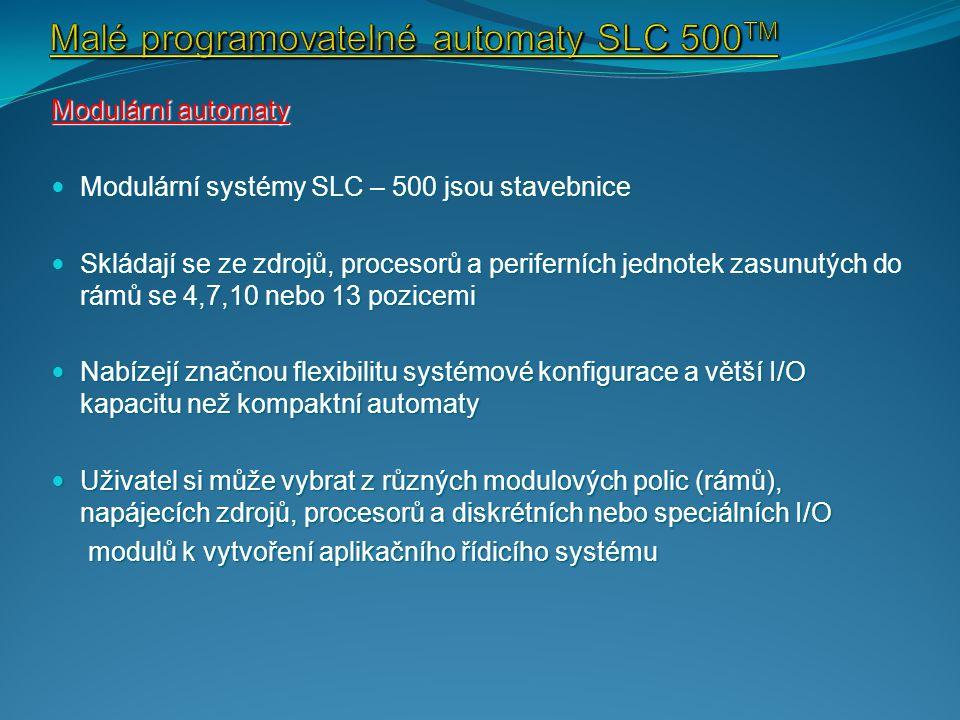 Malé programovatelné automaty SLC 500TM