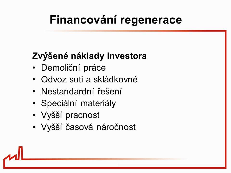Financování regenerace