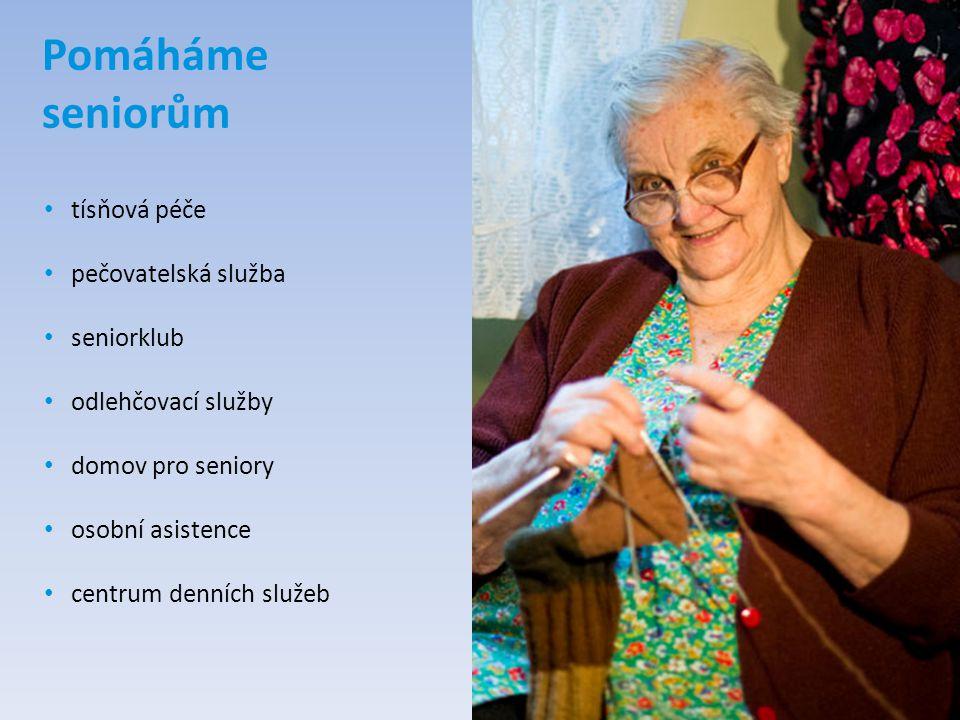 Pomáháme seniorům tísňová péče pečovatelská služba seniorklub