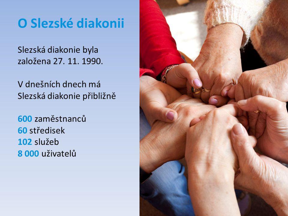 O Slezské diakonii Slezská diakonie byla založena 27. 11. 1990.