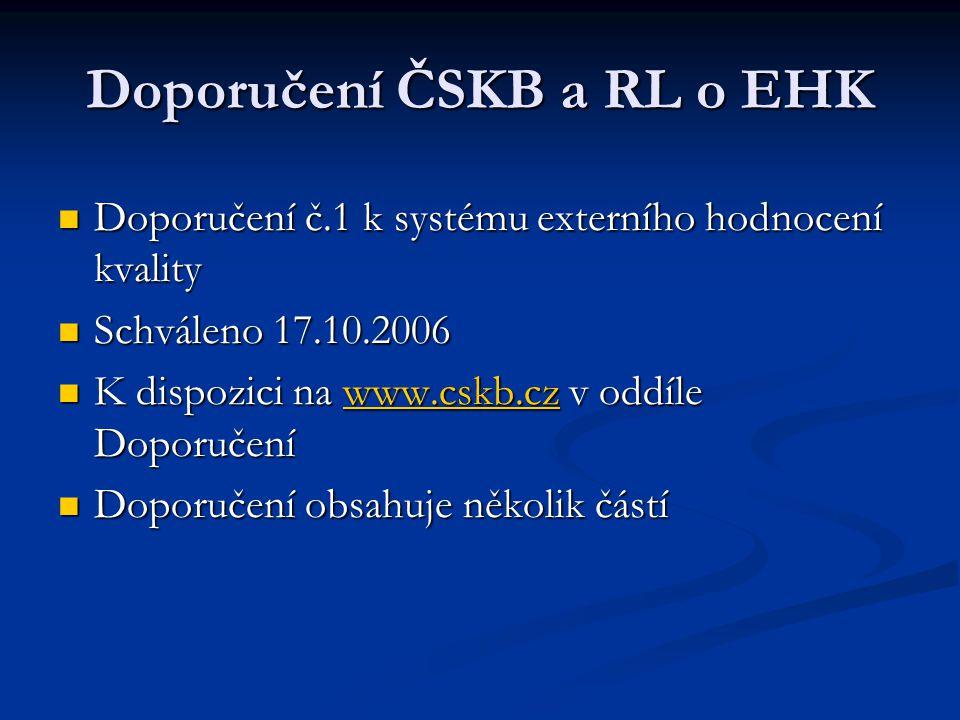 Doporučení ČSKB a RL o EHK
