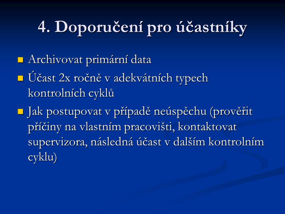4. Doporučení pro účastníky