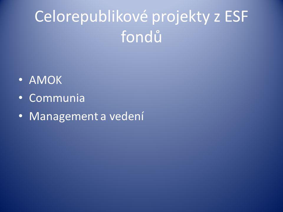 Celorepublikové projekty z ESF fondů