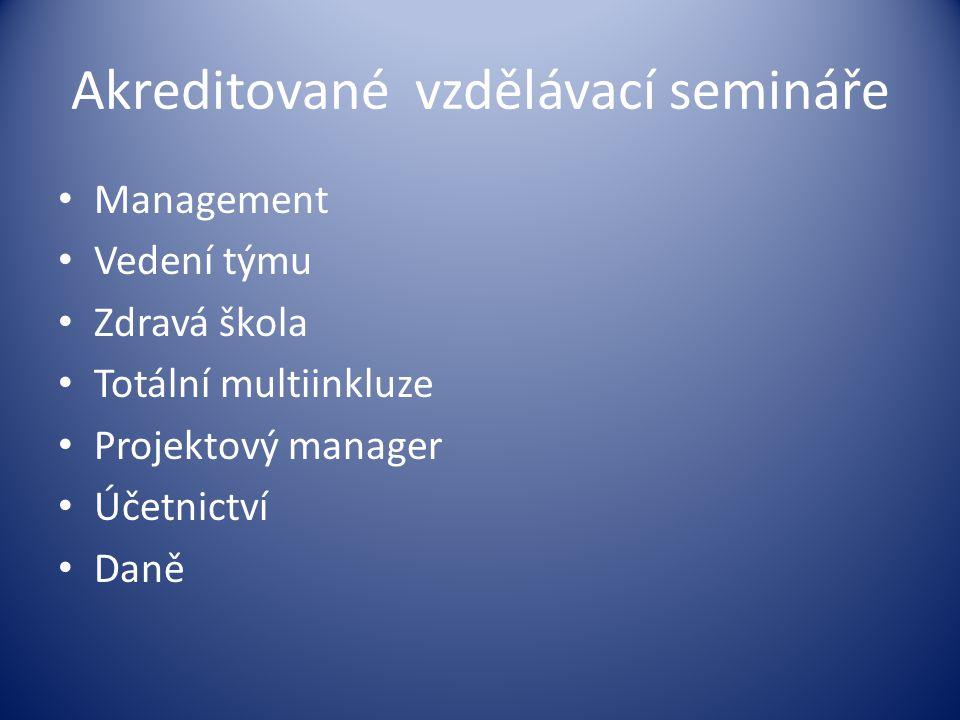 Akreditované vzdělávací semináře
