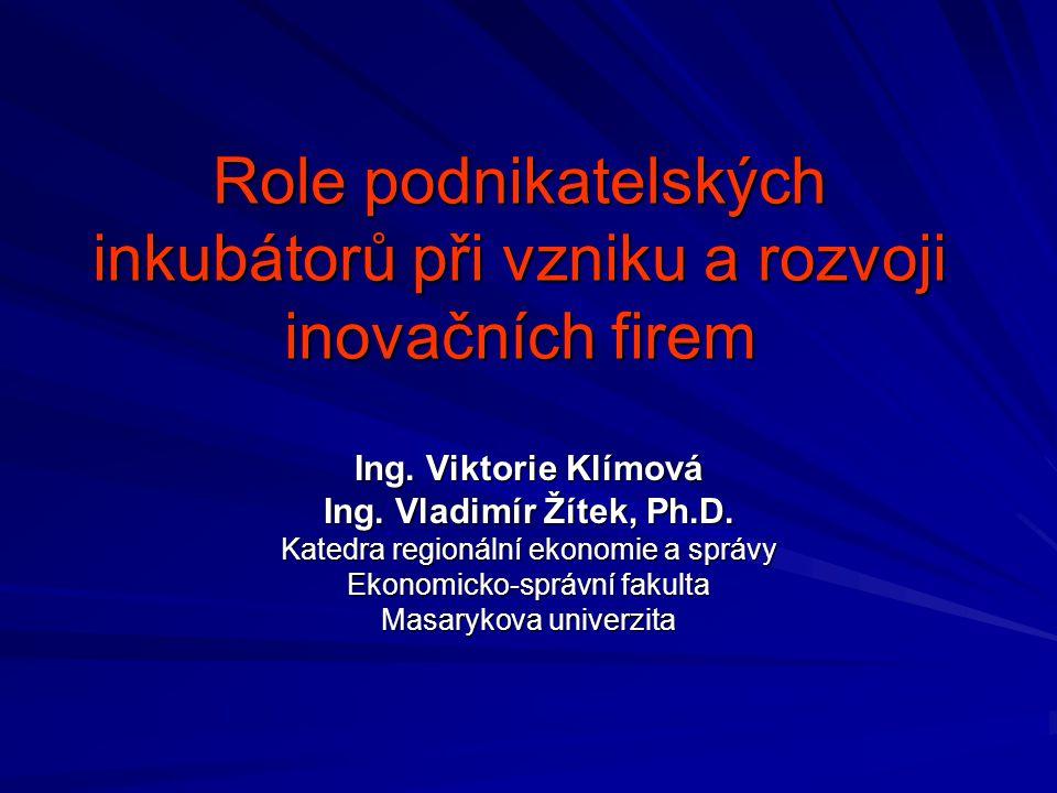 Role podnikatelských inkubátorů při vzniku a rozvoji inovačních firem