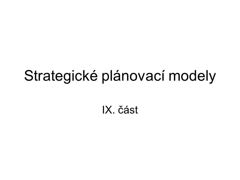 Strategické plánovací modely