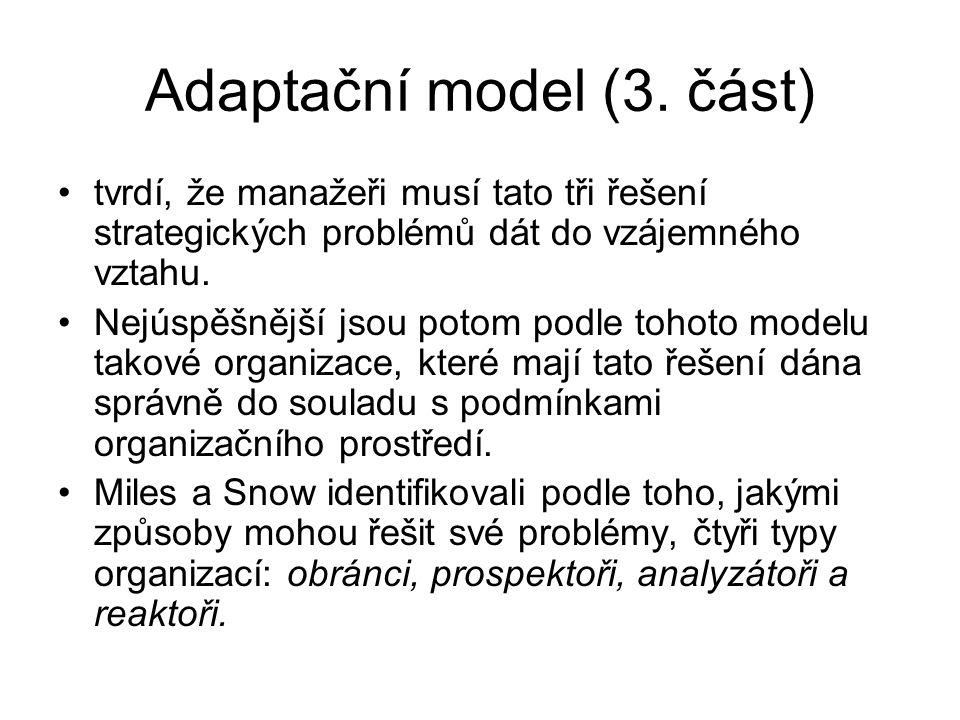 Adaptační model (3. část)