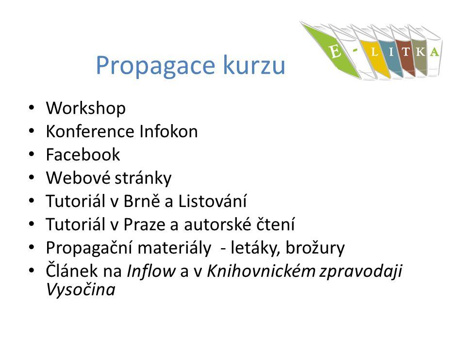 Propagace kurzu Workshop Konference Infokon Facebook Webové stránky