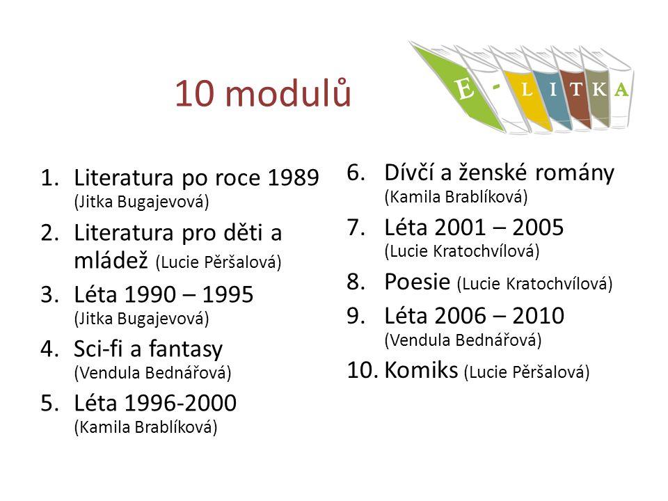 10 modulů Dívčí a ženské romány (Kamila Brablíková)