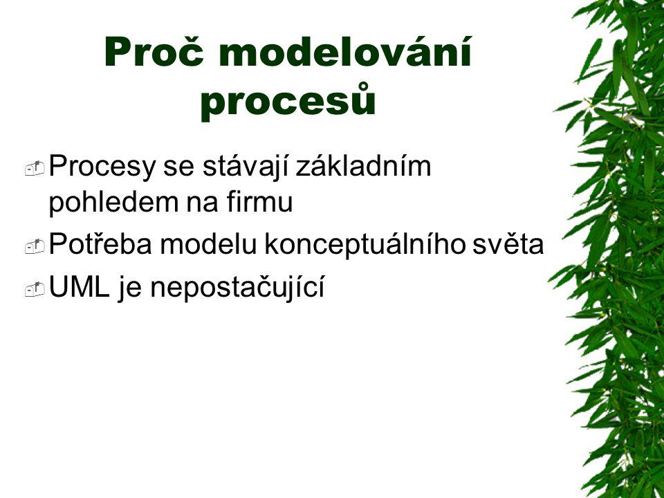 Proč modelování procesů